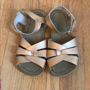 Girls Saltwater Sandals, Size 13